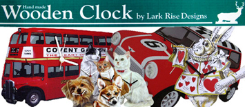 Lark Rise Designs Wooden Clock(クロック)時計