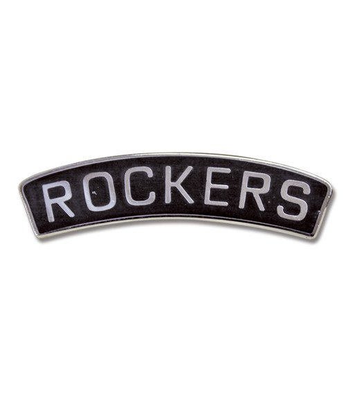 Rockers Number Plate Badge