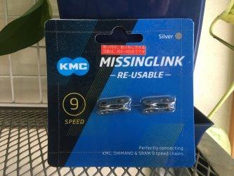*KMC*CL566R ミッシングリンク 9速 SILVER 2セット