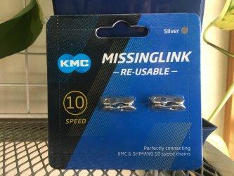 *KMC*CL566R ミッシングリンク 10速 SILVER 2セット