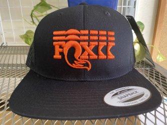 *FOX*Stacked Flat Brim Trucker Hat