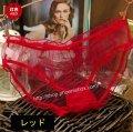 エロ下着 フルバックのメッシュ透明ショーツ・赤・エロ可愛い美人妻の下着