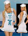 セクシーコスプレ 欧米海軍コスプレ 白 超セクシーキャップ付きミニドレス