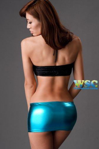 メタリック超マイクロミニタイトスカート ブルーのムチムチお尻美脚ナイトクラブ 激安通販