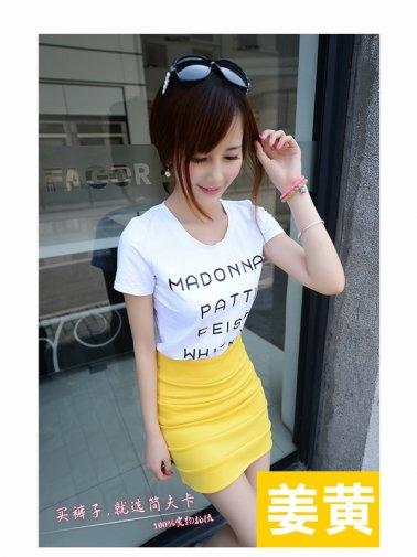 タイトスカート 黄色のセクシーミニスカート 刺激のムチムチ美脚&ピタピタお尻 激安通販
