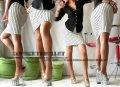 ストライプ柄白 ストレッチsexyタイト膝丈sexyペンシルスカート
