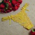エロ下着 黄色のリボン付きTバック・エロセクシー風俗嬢下着