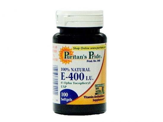 100%天然 ビタミンE(400IU)×100ソフトゲル