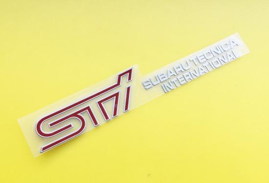 限定品 STI subarutecnica  ロゴ マーク アルミシール