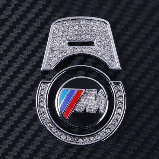 数量限定品  ///M BMW エンジンスタートボタン 高級ラインストーンエンブレム&リング&カバー