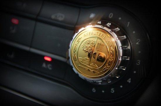 AMG アップル ゴールド エアコンボタンコントロール アルミエンブレム