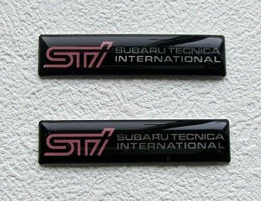 稀少限定 STI 樹脂ミニエンブレム2点セット  a5