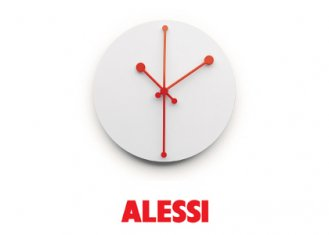 【ALESSI アレッシィ】Dotty Clock / Abi Alice / ALESSI社