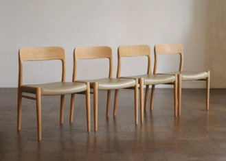 No.75 Side Chair / N.O.Moller / 4脚セット