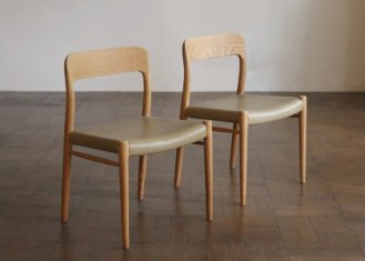 No.75 Side Chair / N.O.Moller / 2脚セット<img class='new_mark_img2' src='https://img.shop-pro.jp/img/new/icons50.gif' style='border:none;display:inline;margin:0px;padding:0px;width:auto;' />