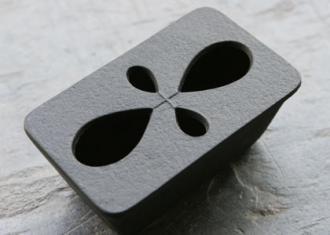 南部鉄器 灰皿 長方形型 さくらんぼ
