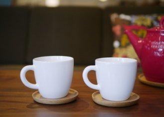 【ホガナス・ケラミック】コーヒーマグ&ウッドソーサー