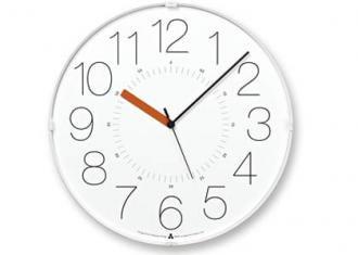 レムノス時計 CARA (電波時計)  ホワイト/時針オレンジ (AWA13-08 WH-O)
