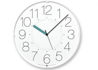 レムノス時計 CARA (電波時計)  ホワイト/時針ブルー(AWA13-08 WH-B)