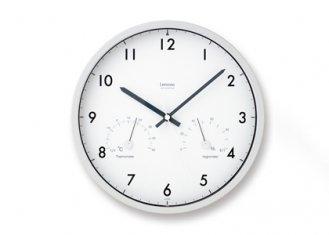 Air clock (エアクロック) [電波時計 温湿度計付]