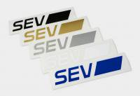 SEVカッティングステッカー 【S】サイズ (約145×27mm)