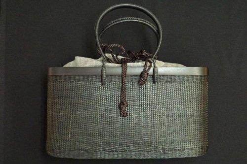 竹籠バック  黒色