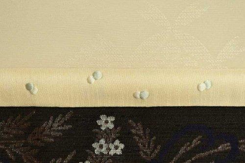 紬地刺繍帯揚げ (薄卵)