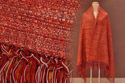 手織りショール
