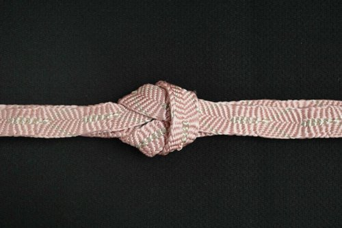 唐組 帯締め(桃色・銀)