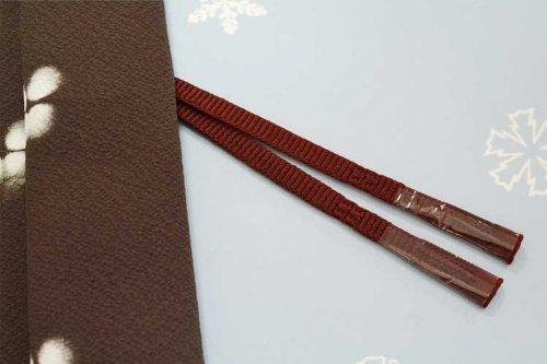 羽織紐 手組み(臙脂・一色)