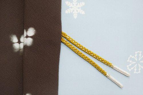 羽織紐 手組み(藤黄・白)
