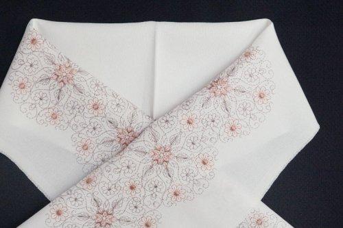 花唐 刺繍半襟(白)