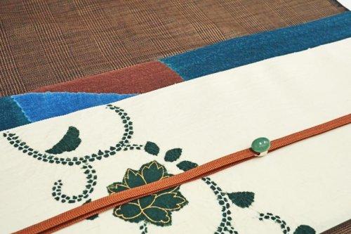 九寸 唐花文様 絞り染め帯