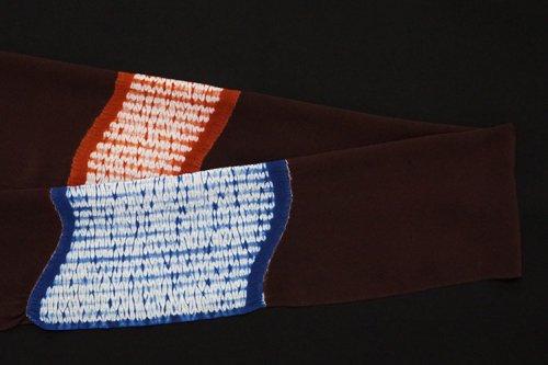 2色染め 絞り帯揚げ(臙脂墨)