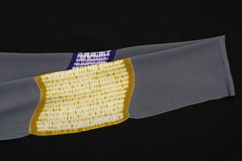2色染め 絞り帯揚げ(藤煤竹)