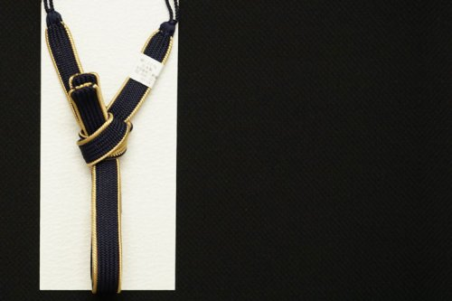 men's シンプル 羽織紐(ネイビー)