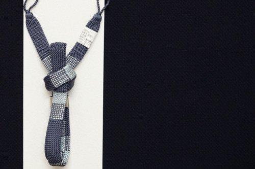 men's 羽織紐(藍鼠色)