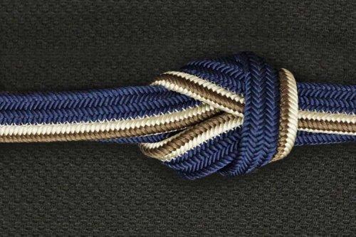 長尺 平組 帯締め(紺藍)