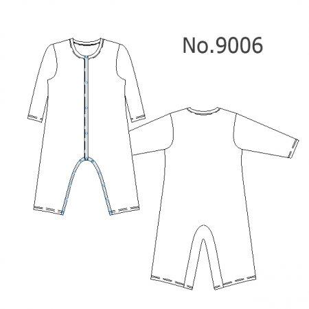 No.9006 長袖長ズボンロンパース9006