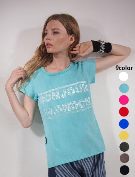 ◎新商品★R-LONDON★ボンジュールメタルTシャツ