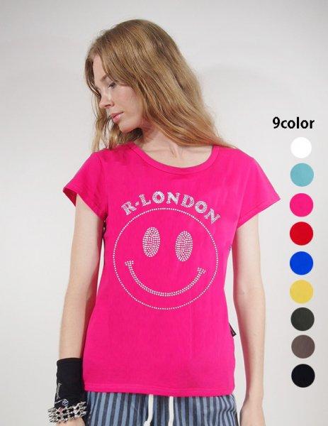 ◎新商品★R-LONDON★スマイリーメタルストーンTシャツ