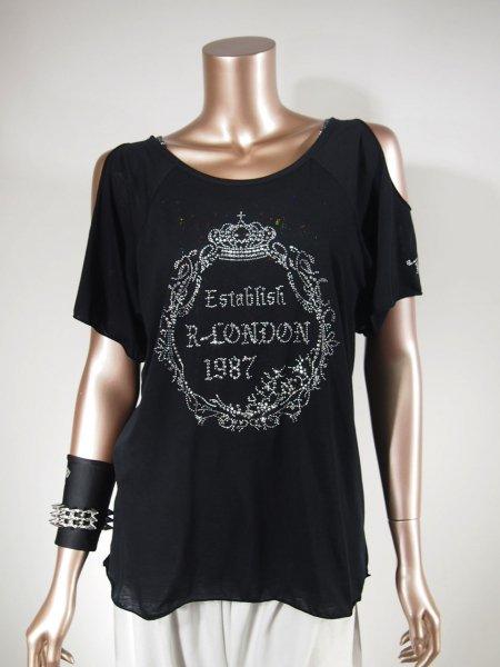 ◎新商品★R-LONDON★クラウンリングホーリングオーバーTシャツ