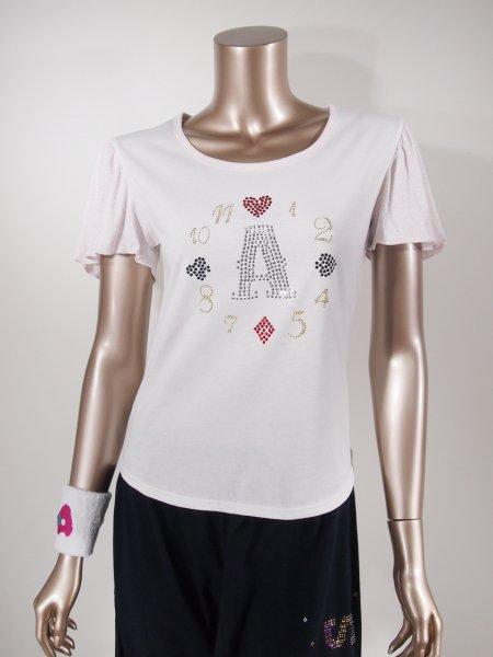◎新商品★ARIS★ARISウォッチバイカラーギャザーフレアスリーブTシャツ
