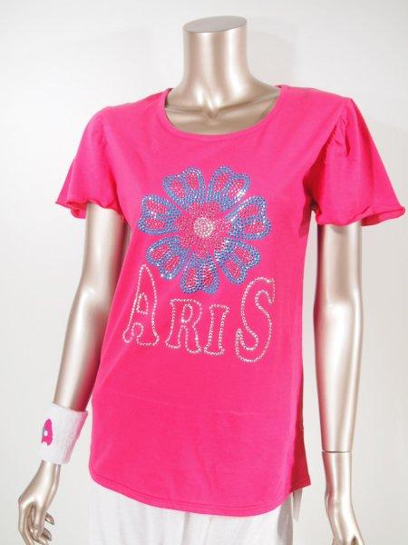 ◎新商品★ARIS★ハッピーフラワーフレアスリーブTシャツ