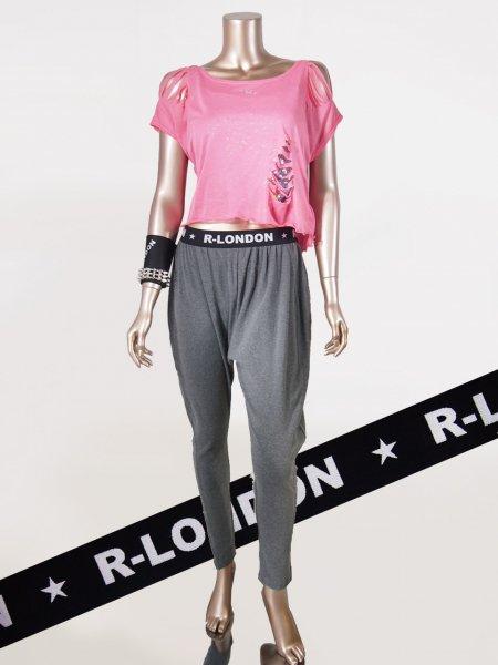 ◎新商品★R-LONDON★ウエストロゴサイドラインパンツ
