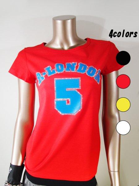 ◎新商品★R-LONDON★メタルナンバーファイブTシャツ