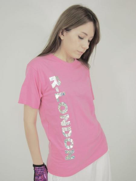 ◎新商品★R-LONDON★R-LONDONホログラミックロゴTシャツ