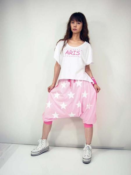 ◎新商品♪ ARIS ♪  スターズプリントツートーンサルエルパンツ