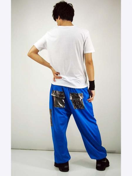 【メンズ】新商品★R-LONDON★メタリックポケット付きイングランドワッペンロングスウェットパンツ
