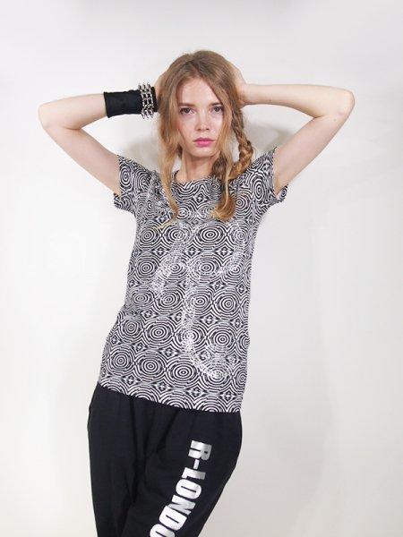◎新商品★R-LONDON★ベティーズスパイラルシルバーダズリンTシャツ